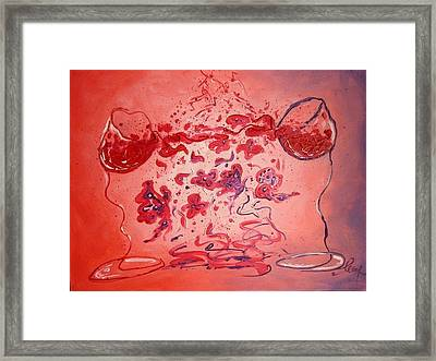 Exhilaration Amour Framed Print by Alina Barbuceanu