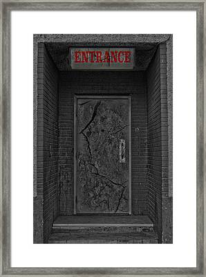 Exit Framed Print by Empty Wall