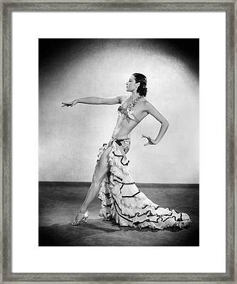 Exotic Dancer Framed Print by Sasha