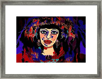 Exotic Woman Framed Print by Natalie Holland