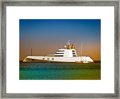 Exotic Yacht Framed Print