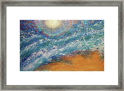Framed Print featuring the painting Expansion  Heaven For Pandemonium Set Painting  by D Renee Wilson