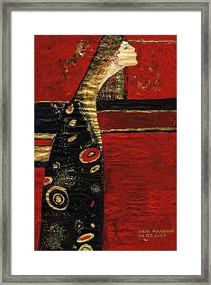 Framed Print featuring the painting Expectation by Maya Manolova
