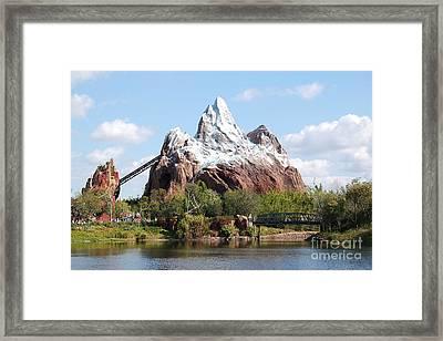 Expedition Everest Profile Animal Kingdom Walt Disney World Prints Framed Print