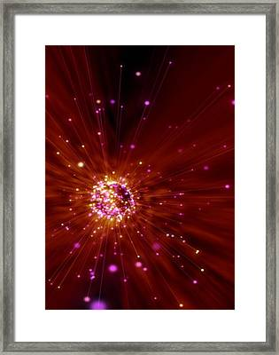 Exploding Star, Conceptual Artwork Framed Print by Victor Habbick Visions