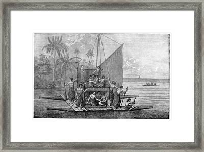 Exploration Of Tonga, 18th Century Framed Print by Cci Archives