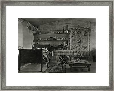 Explorer Joseph Rock Sitting Framed Print by Dr. Joseph F. Rock