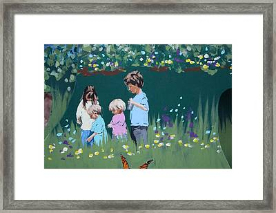 Framed Print featuring the painting Exploring by Jan Swaren