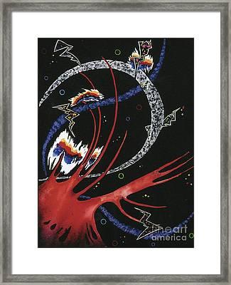 Explosion Framed Print by Nadene Merkitch