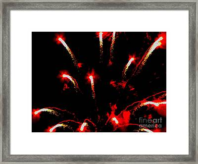 Explosion Of Red Framed Print