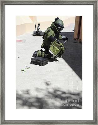 Explosive Ordnance Disposal Technician Framed Print