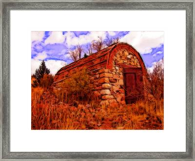 Explosives Shed Framed Print by Howard Perry