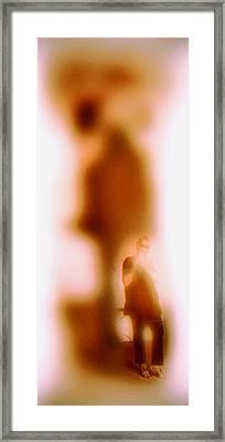 Exposing My Shadow Framed Print by Li   van Saathoff