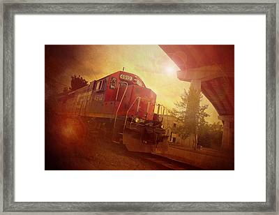 Express Train Framed Print by Joel Witmeyer