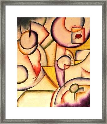 Expressions In Art Cafe Framed Print