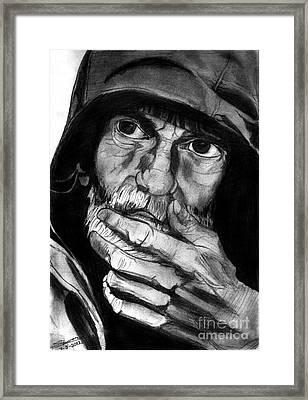 Expressive Man Framed Print by Shashi Kumar