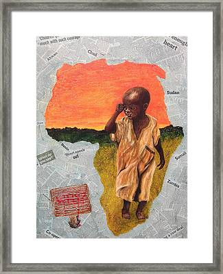 Expropriated -stolen Framed Print by Peter Edward Green