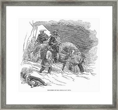 Expulsion Of Jews, 1844 Framed Print by Granger