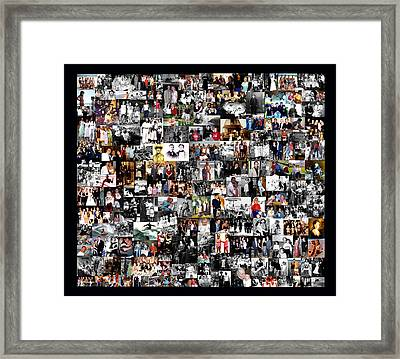 Extended Family Photo Collage Framed Print by Maureen E Ritter