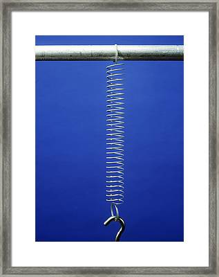 Extended Tension Spring Framed Print by Andrew Lambert Photography