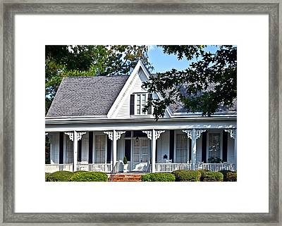Exterior Of Victorian Style House Framed Print by Susan Leggett