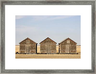 Exterior View Of Old Granaries Framed Print by Pete Ryan