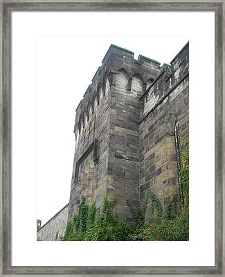 Exterior Wall Framed Print by Christophe Ennis
