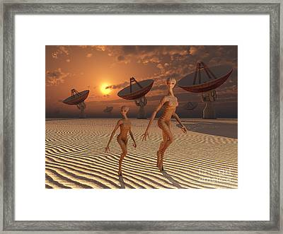 Extraterrestrials Are Believed Framed Print by Mark Stevenson