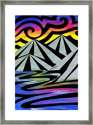 Extreme Alps Framed Print by Roseanne Jones