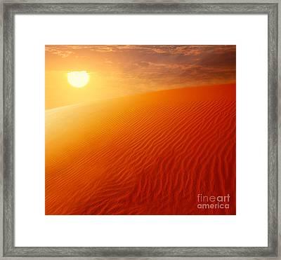 Extreme Desert Land Framed Print by Anna Om