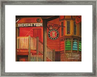 Extreme Pizza Framed Print by Vikki Wicks
