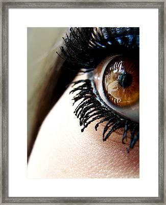 Eye 01 Framed Print by Kalie Hoodhood