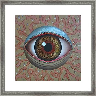 Eye Dew Framed Print by Sharon Ebert