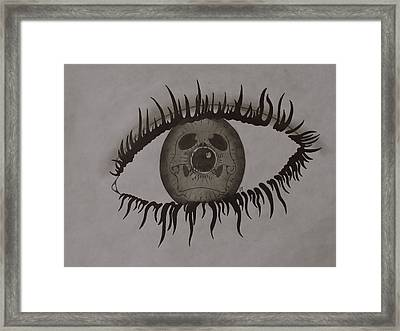 eye Framed Print by Gary Southard