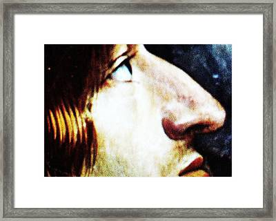 Eye Nose Lips Framed Print by Paul Washington