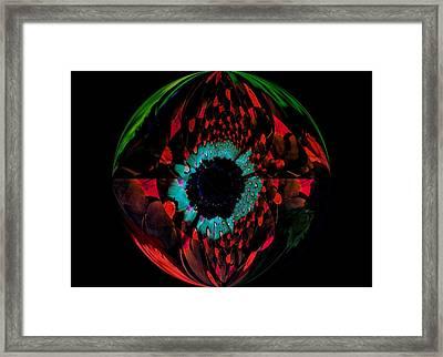Eye Of A Peacock... Framed Print by Tanya Tanski