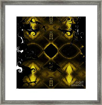 Framed Print featuring the mixed media Eye Of The Beholder 2 by Ayasha Loya