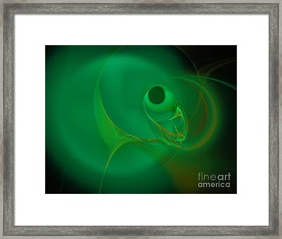 Framed Print featuring the digital art Eye Of The Fish by Victoria Harrington