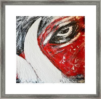 Eye Of The Pig Framed Print by Nicky Dou