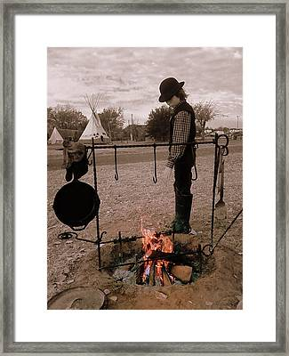 Eye On The Fire Framed Print by Cindy New