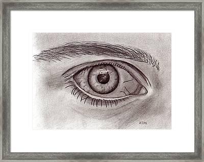 Eye Framed Print by Pat Moore