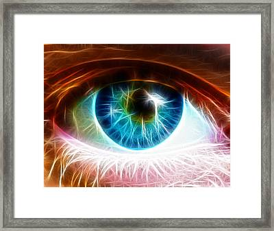 Eye Framed Print by Paul Van Scott
