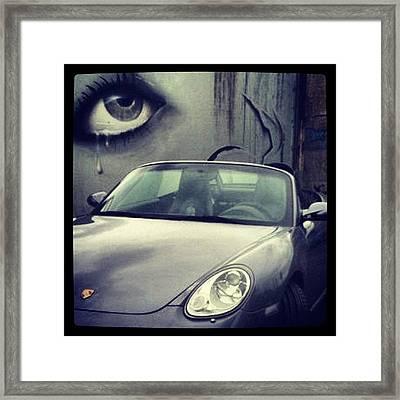 #eye #porsche  #boxster #987 #doel Framed Print