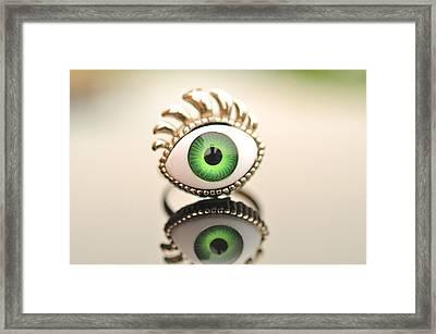 Eye Ring  Framed Print by Puzzles Shum