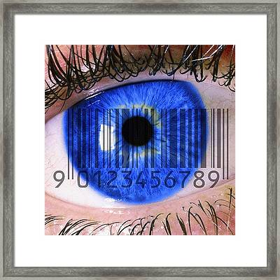 Eye Scan Framed Print