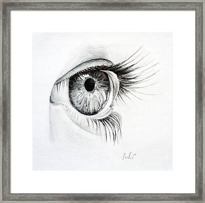 Eye Study Framed Print by Eleonora Perlic