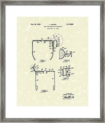 Eyeglass Mirror 1939 Patent Art Framed Print