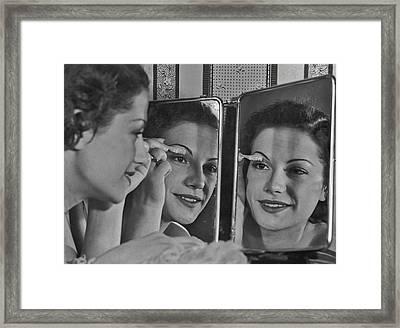 Eyelash Combing Framed Print by Fpg