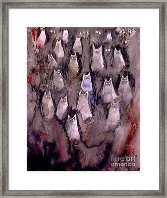Eyes Are Wathching -2 Framed Print