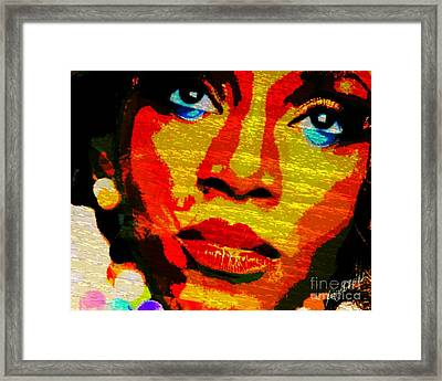 Eyes Of Nigeria - Genevieve Framed Print